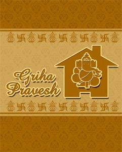 Griha pravesh cards griha pravesh invitation card card griha pravesh cards stopboris Choice Image